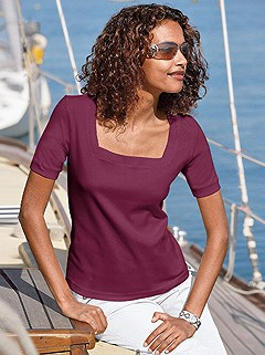 Square Neck Top product image (B64090.BORD.1.HE)