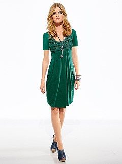 Lace Applique Dress product image (B68012.GR.2.3_WithBackground)