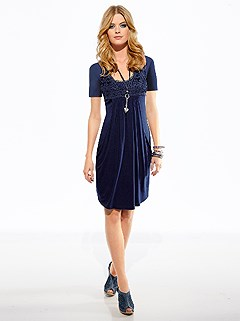 Lace Applique Dress product image (B68012.NV.1.3_WithBackground)