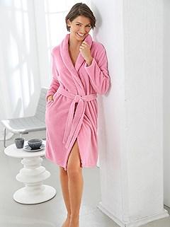 Shawl Collar Fleece Bathrobe product image (C19461.RSDU.1.1_WithBackground)