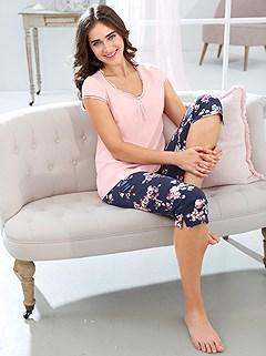Ruffled Mesh Pajama Set product image (C30843.RSMU.1.1_WithBackground)