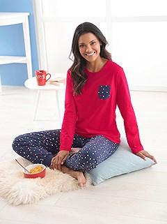 Polka Dot Pajama Set product image (C44314.RDNV.1.1_WithBackground)