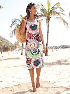 Multi Print Beach Dress product image (C49707.MU.1.5_WithBackground)