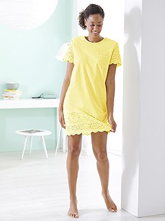 Eyelet Trim Nightgown product image (C68419.YL.1.1_WithBackground)