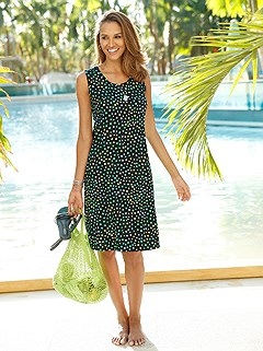 Polka Dot Sleeveless Cover Up product image (C81571.BKPR.1.7_WithBackground)