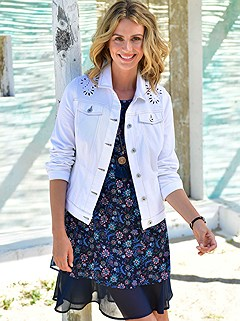 Floral Embroidered Denim Jacket product image (P.417327.WH.1.1_Raw)